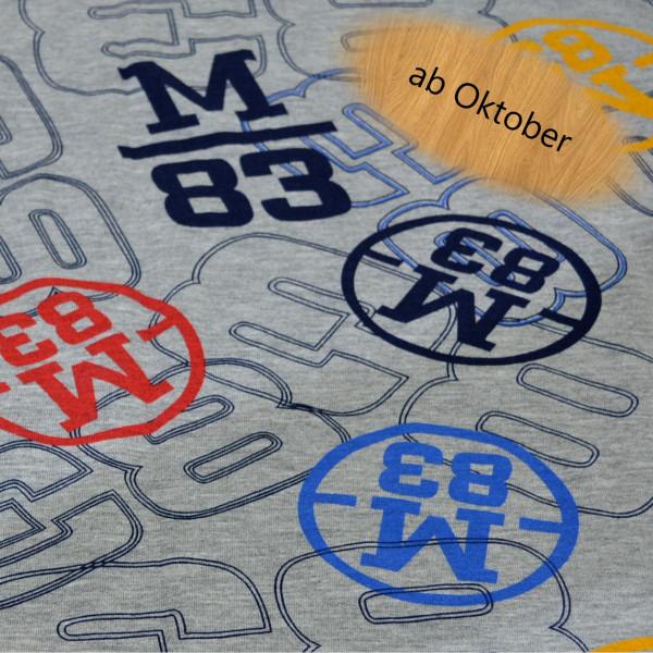 M38, blau, rot gelb, Glünz, French Terry