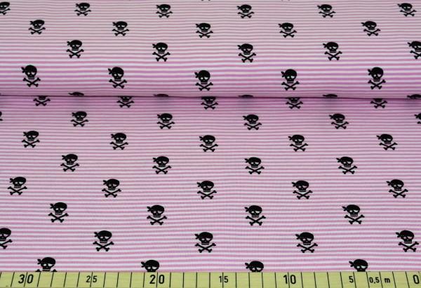 Totenkopf + Streifen (rosa) - B365