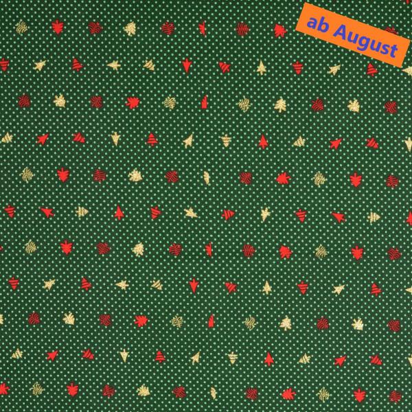 Tannebaum (Weihnachten, Punkte, Tannebaum, Baumwolle) - Z817