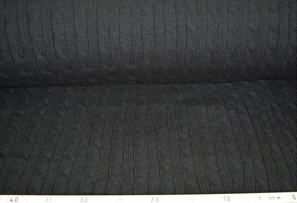 Strick Zopf (schwarz) - B1148