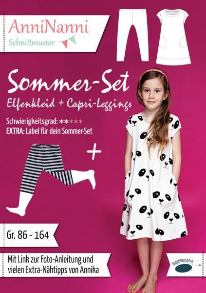 Sommer-Set (Elfenkleid + Capri-Leggings) - V36