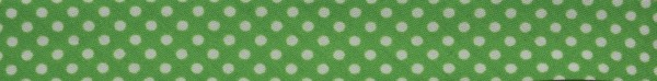 Schrägband (Tupfen grün)