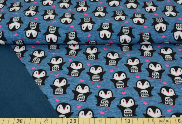 Pinguin mit Herz (marine) - A524