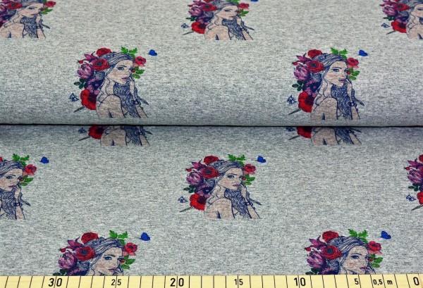 Blumenmädchen (hellgrau meliert) - B421