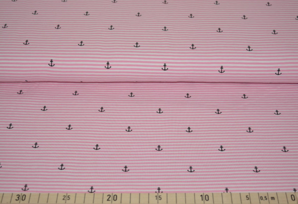 Anker + Streifen (Ringel, rosa) - B315