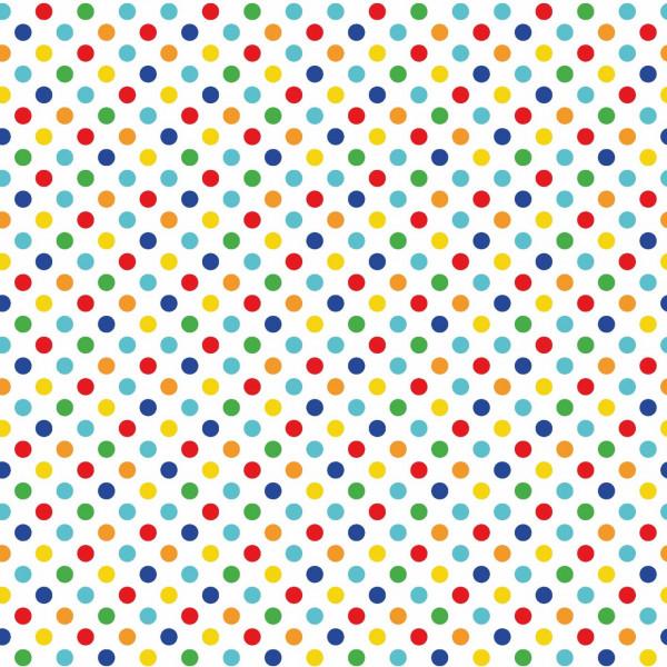 Confetti (Punkte, Regenbogen, Baumwolle) - B1634