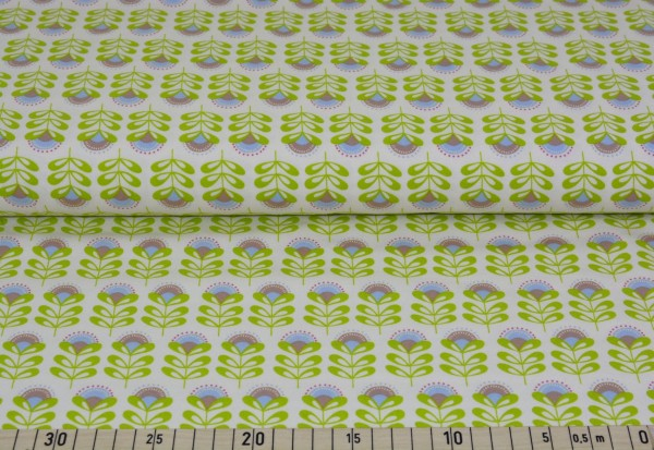 Flowery (creme) - A166