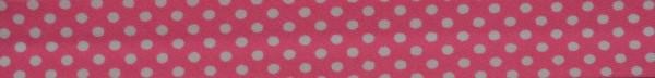 Schrägband (Tupfen pink)