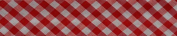 Schrägband (Karo rot)