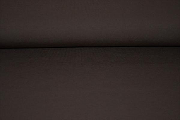 Baumwoll Jersey uni (dkl. braun) - 0750