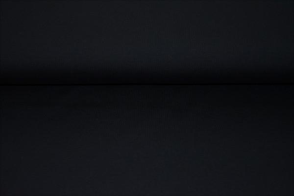 Baumwoll Jersey uni (schwarz) - 0150