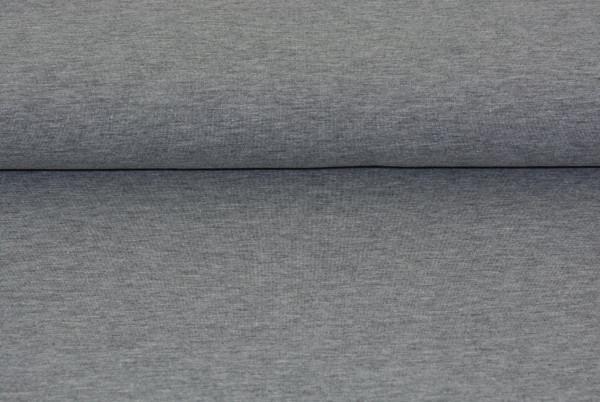 Baumwoll Jersey uni (grau meliert) - 0230
