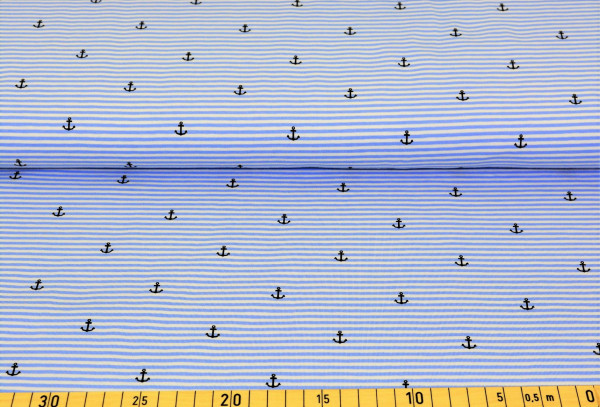 Anker + Streifen (Ringel, hellblau) - B296