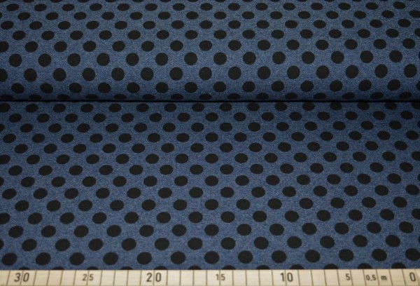 """Tupfen (blau meliert) - B1271 """"schwarze Tupfen"""""""