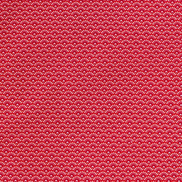 Raffaela Z1339, Glünz GmbH, Baumwolle, Blume, abstrakt, rot, Strauss
