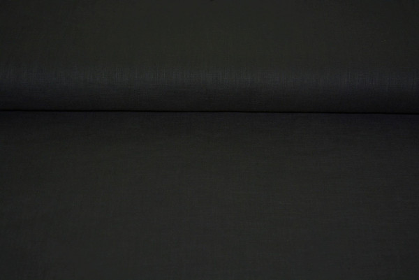 Leinen uni (schwarz) - 0150