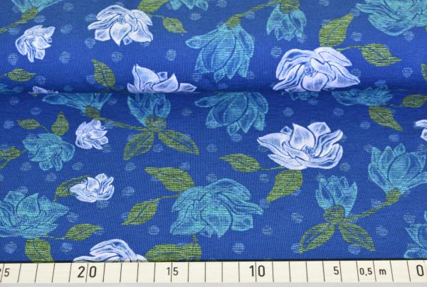 Pastell - Blumen (rauchblau) - A414