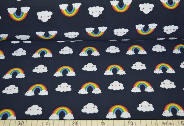 Regenbogenwolke (schwarz) - B480