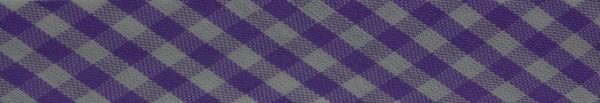 Schrägband (Karo flieder)