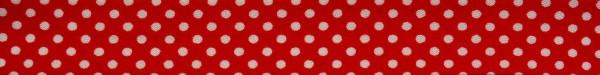 Schrägband (Tupfen rot)