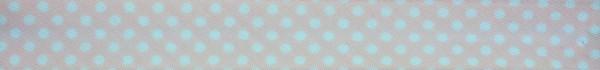 Schrägband (Tupfen rosa)