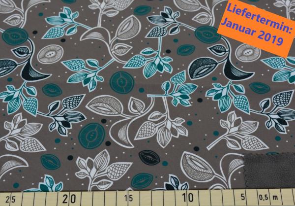 Blütenschwung (grau) - A473 (Softshell)