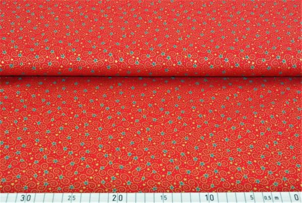 Weihnachtshimmel (rot) - E131 (Baumwolle)