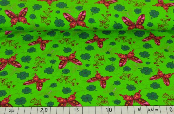 Schmetterling + Kleeblatt (kiwi) - B851