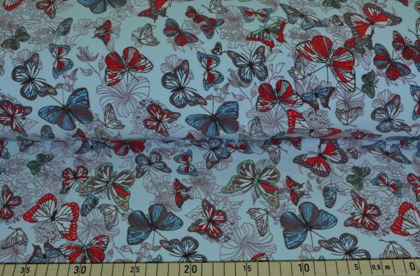 Schmetterlinge (hellblau) - B571
