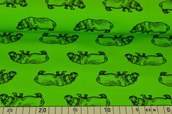 Nilpferd (grün) - B688