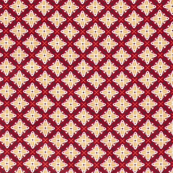 Marietta - Z1349, Glünz GmbH, Baumwolle, abstrakt, Blume, bordeaux, rot, rosa