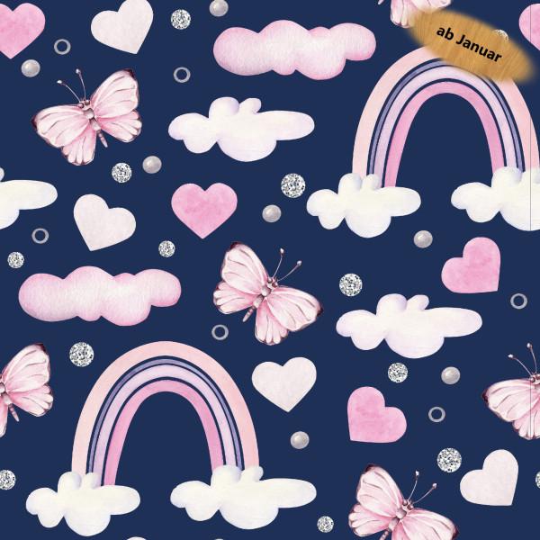 Z1444 Nikola, Glünz GmbH, Softshell, Wolke, Cloud, Butterfly, Schmetterling, Herz, Heart, Regenbogen, Rainbow